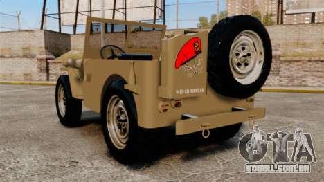 Willys MB para GTA 4 traseira esquerda vista