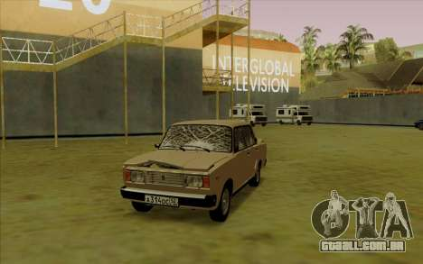 VAZ 2107 para GTA San Andreas vista inferior
