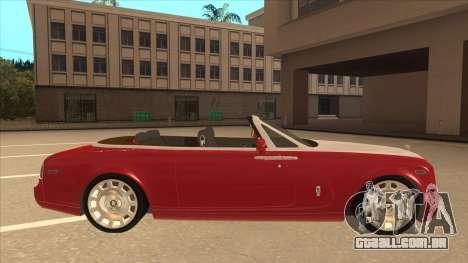 Rolls Royce Phantom Drophead Coupe 2013 para GTA San Andreas traseira esquerda vista