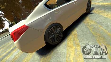 Peugeot 408 GT para GTA 4 traseira esquerda vista