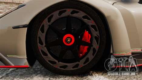 Lamborghini Veneno para GTA 4 vista de volta