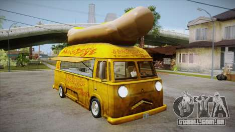 Hot Dog Van Custom para GTA San Andreas vista interior