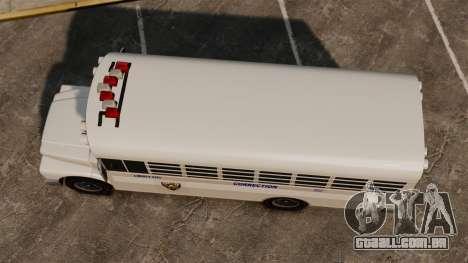 O ônibus da prisão Liberty City para GTA 4 vista direita