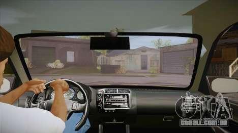 Honda Civic 1998 Tuned para GTA San Andreas vista interior