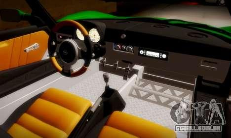 Opel Speedster Turbo 2004 para GTA San Andreas vista interior