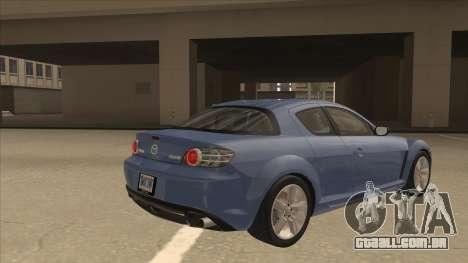 Mazda RX8 Tunable para GTA San Andreas vista direita