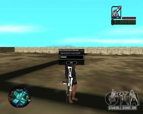 Cleo Gun for SA:MP (dgun) para GTA San Andreas por diante tela