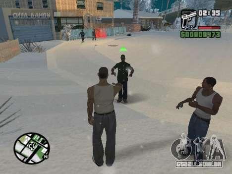 Alternar entre personagens como em GTA V para GTA San Andreas quinto tela