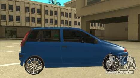 Fiat Punto MK1 Tuning para GTA San Andreas traseira esquerda vista