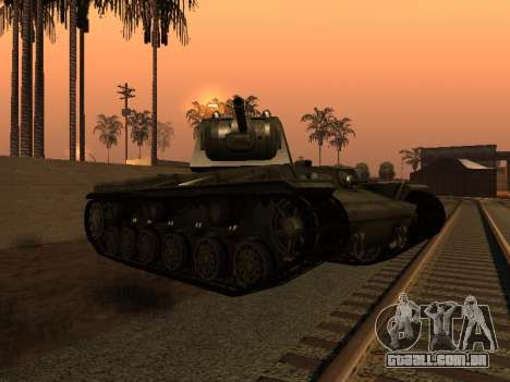 KV-1 para GTA San Andreas vista direita