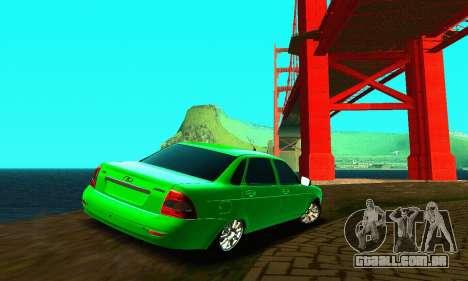 LADA Priora de 2170 para GTA San Andreas traseira esquerda vista