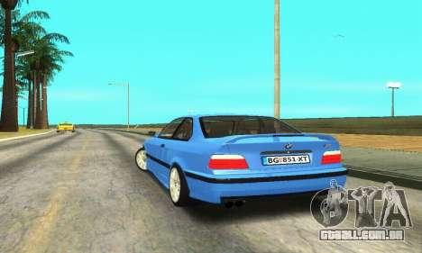 BMW M3 (E36) para GTA San Andreas traseira esquerda vista