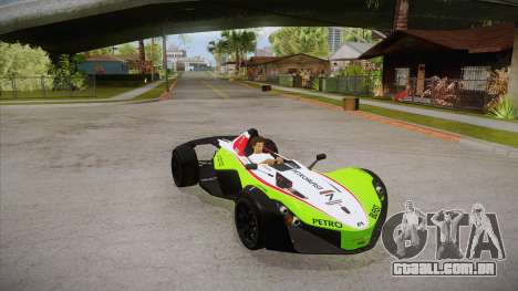BAC Mono 2011 para GTA San Andreas vista inferior