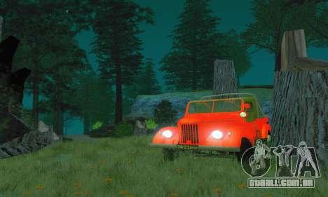 GAZ 69 Pickup para GTA San Andreas vista direita