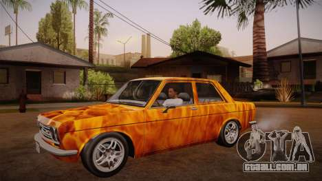 Datsun 510 RB26DETT Black Revel para vista lateral GTA San Andreas