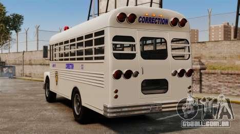 O ônibus da prisão Liberty City para GTA 4 traseira esquerda vista