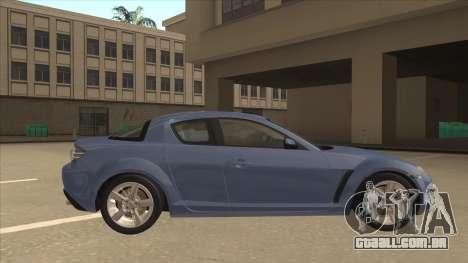 Mazda RX8 Tunable para GTA San Andreas traseira esquerda vista