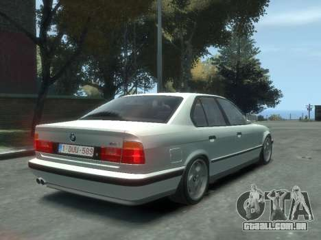 BMW M5 E34 para GTA 4 esquerda vista