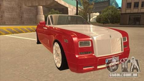 Rolls Royce Phantom Drophead Coupe 2013 para GTA San Andreas esquerda vista