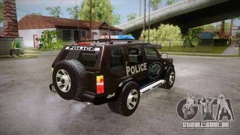 Nissan Terrano RB26DETT Police para GTA San Andreas vista direita