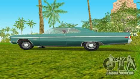 Plymouth Fury III 1969 Coupe para GTA Vice City vista traseira