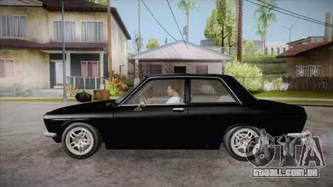 Datsun 510 RB26DETT Black Revel para GTA San Andreas esquerda vista
