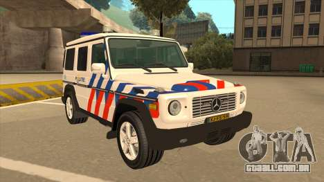 European Emergency Mercedes-Benz G 2008 para GTA San Andreas esquerda vista