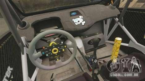 Ford Fiesta Gymkhana 6 Ken Block [Hoonigan] 2013 para GTA 4 vista lateral