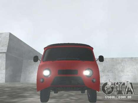UAZ 22069 para GTA San Andreas vista traseira