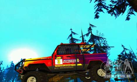 UAZ Hunter julgamento para GTA San Andreas vista inferior