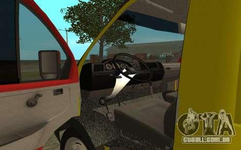 3302 gazela reboque negócios para GTA San Andreas vista traseira