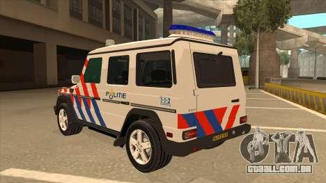 European Emergency Mercedes-Benz G 2008 para GTA San Andreas vista traseira
