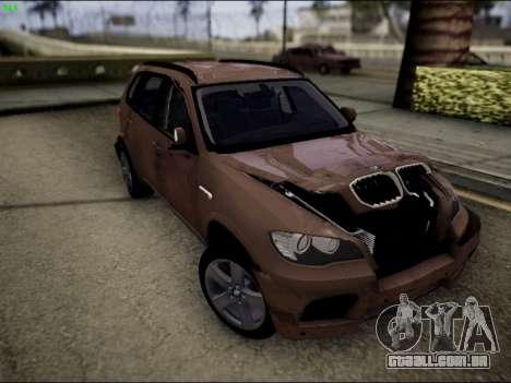 BMW X5M para vista lateral GTA San Andreas