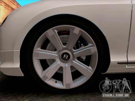 Bentley Continental GT Final 2011 para GTA San Andreas vista interior