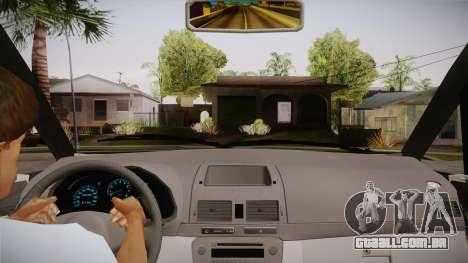 Toyota Kijang Innova 2.0 G v3.0 Steel Rims para GTA San Andreas vista interior