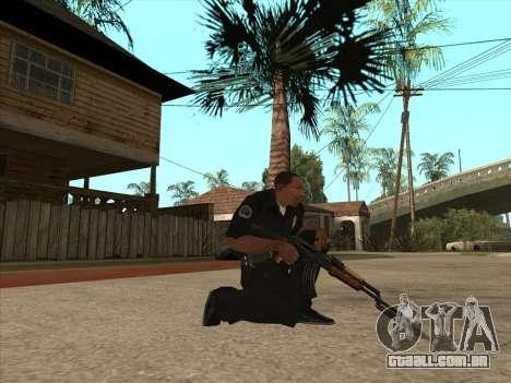 AKMS com baioneta-faca para GTA San Andreas segunda tela