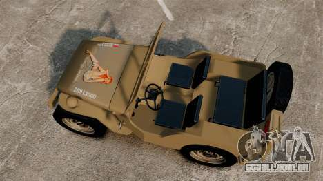 Willys MB para GTA 4 vista direita