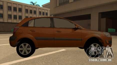 KIA RIO II 5 DOOR para GTA San Andreas traseira esquerda vista