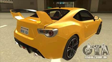 TOYOTA GT86 2JZ-GTE Black Revel para GTA San Andreas vista direita