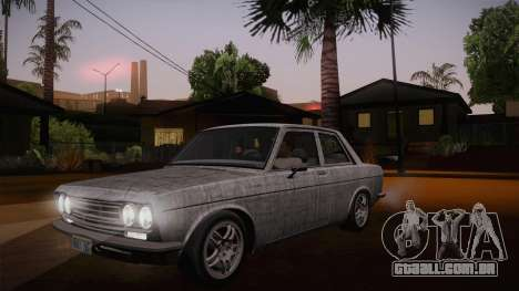 Datsun 510 RB26DETT Black Revel para GTA San Andreas vista inferior