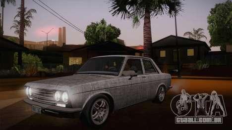 Datsun 510 RB26DETT Black Revel para GTA San Andreas vista inferior