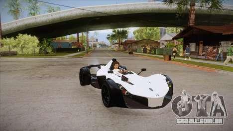 BAC Mono 2011 para GTA San Andreas vista traseira