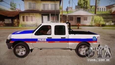 Ford Ranger 2011 Province of Buenos Aires Police para GTA San Andreas esquerda vista