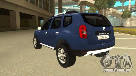 Dacia Duster 2014 para GTA San Andreas vista traseira