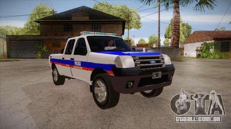 Ford Ranger 2011 Province of Buenos Aires Police para GTA San Andreas vista traseira