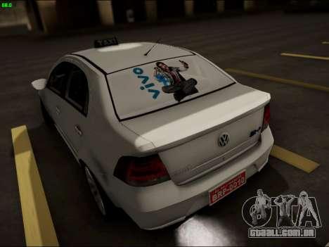 Volkswagen Voyage Taxi para GTA San Andreas traseira esquerda vista