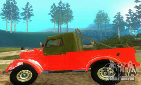 GAZ 69 Pickup para GTA San Andreas vista interior