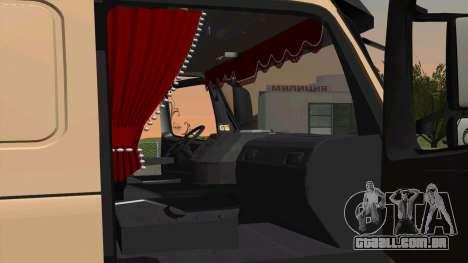 Volvo FM16 para GTA San Andreas traseira esquerda vista