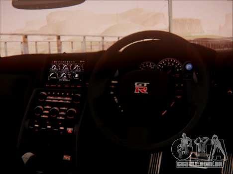 Nissan GT-R R35 Spec V 2010 para GTA San Andreas vista superior