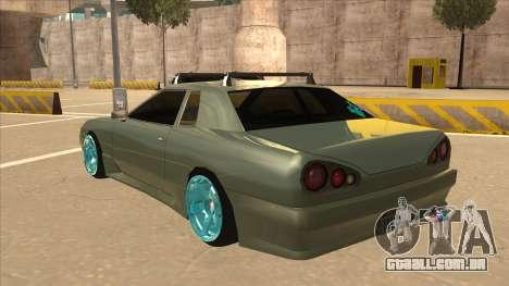 Elegy Hellaflush para GTA San Andreas vista traseira